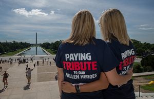 Honoring fallen police officers at the National Mall in Washington, DC.